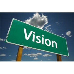 How do serving leaders share their vision with the world?