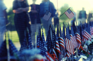 Every name on this wall represents a family member, a friend or someone who sacrificed their life so we could be free