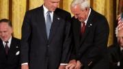 Arnold Palmer receiving Presidential Medal of Freedom from President Bush